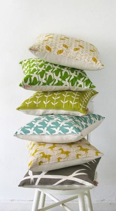 gorgeous prints... !: pillows ~ Skinny laMinx