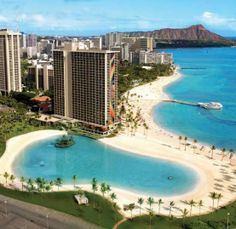 Arial view of Hilton Hawaiian Village Waikiki Beach Resort #travel