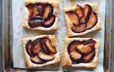 Take store-bought puff pastry, add sliced fresh plums and a drizzle of honey, and you've got a simple, elegant snack fit for a party.
