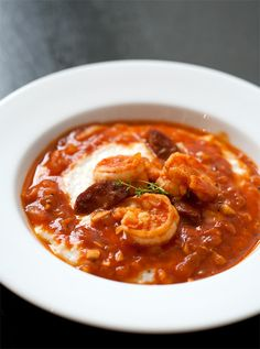 Étouffée-Style Shrimp and Grits - a savory and spicy convergence of Southern staples