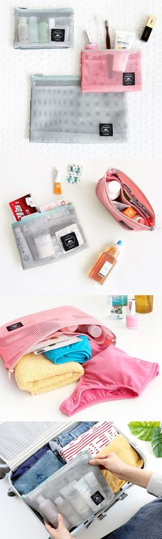 The Mesh Multi Pouch is a cute & simple must-have for your spring, summer, fall, and winter travel plans. Make packing a breeze with this practical pouch! ^.~*