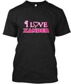I Love Xander Black T-Shirt Front - This is the perfect gift for someone who loves Xander. Thank you for visiting my page (Related terms: I love,I heart Xander,I love Xander,Xander Classic Style Name,Xander,Xander,Xander rocks,First Names #Xander, #Xandershirts...)