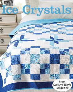 Ice Crystals from the Winter 2016 issue of Quilter's World Magazine. Order a digital copy here: https://www.anniescatalog.com/detail.html?prod_id=133850