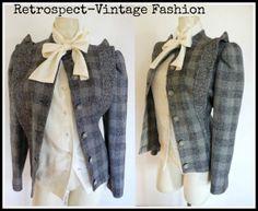 1980's Vintage CASANOVA Paris 100 Laine wool by RetrospectBoutique, $54.99