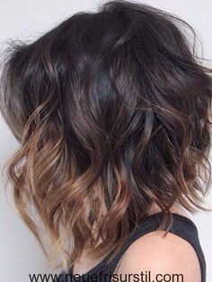 Dunkel-und Licht-Highlights für Kurzes Haar
