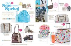 Ten New Styles for Spring!  Contact me to book a party or host a catalog party!!  www.mythirtyone.com/taneshaj