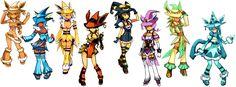 Eeveelution ladies. Anime witches to match each Eevee. : pokemon
