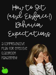 How to Set (and Enforce!) Behavior Expectations | TwentySomething Teacher Life