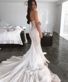 Stunning Embellished Strapless Sweetheart Mermaid Wedding Dress / Bridal Gown Open Back and Long Train. Dress by Pallas Couture princess wedding dresses sweetheart strapless neckline detached sleeves full lace Wedding Dress Gallery, Wedding Dress Trends, Boho Wedding Dress, Dream Wedding Dresses, Mermaid Wedding, Bridal Dresses, Embelished Wedding Dress, Couture Wedding Dresses, Mermaid Bridal Gowns