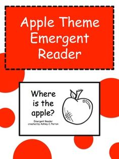 This emergent reader helps with shape identification and also allows for students to work on their fine motor skills! Great for apple, back to school or fall themes.