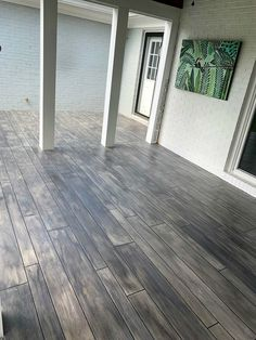 Learn how to make concrete look like wood! We have helped thousands of contractors and do it yourselfers make their concrete look like wood. Concrete Wood Floor, Outdoor Concrete Stain, Wood Stamped Concrete, Concrete Patio Designs, Acid Stained Concrete, Concrete Porch, Concrete Houses, Colored Concrete Patio, Decorative Concrete