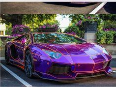 Purple - glow in the dark Lamborghini