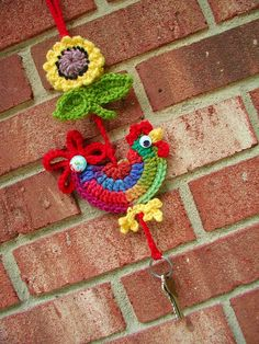 Fun crochet wall hanging