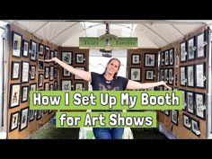 Watch my video to learn how to set up an outdoor art booth. See how I attract customer in under 7 seconds. That's how long you have before shoppers walk by. Craft Show Booths, Craft Booth Displays, Art And Craft Shows, Arts And Crafts, How To Attract Customers, Outdoor Art, Art Fair, 7 Seconds, Watch