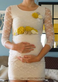 Baby Shower Mommy and Daddy Maternity Sash by FeltFromTheHeartXXOO, $32.00