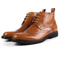 900ebf071934ab 2016 automne hiver hommes de cuir véritable cheville bottes classique  vintage sculpté version européenne oxford richelieu western bottes de neige  dans ...