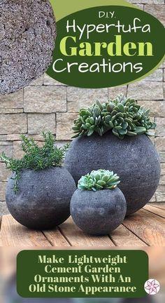 Cement Flower Pots, Diy Concrete Planters, Cement Garden, Concrete Cement, Concrete Garden Ornaments, Diy Planters Outdoor, Planter Garden, Cement Pots, Garden Yard Ideas