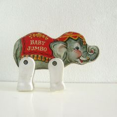 Vintage wooden toy Elephant Fisher Price Junior Circus Animal