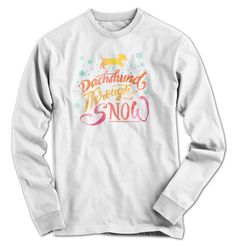Dachshund And Snow Long Sleeve