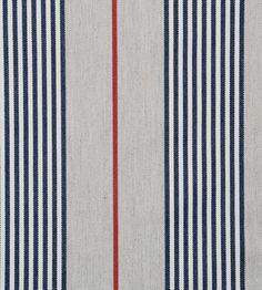 Design Classics | Nautical | Vintage Stripe 2 Fabric by Ian Mankin | Jane Clayton