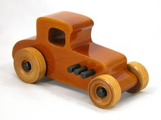 Handmade, Handcrafted, Wooden Toy Car, Hot Rod Freaky Ford, 1927 Ford Coupe, Model-T, Gloss Amber Shellac Body, Amber Shellac Wheels, Black Exhaust, Black Hubs, Pinewood, Birch, Odin's Toy Factory, Tallahassee, Florida, Hot Rod, 27 T-Coupe, Race Car, Street Rod, Dragster, Speedster, Rat Rod, Toys For Boys, Wood Toy, Toys & Games, Toys, Push & Pull Toys, Toys For Kids #odinstoyfactoy #handmade #handcrafted #woodentoys #toys #tallahassee #florida #hotrods #cars #toys #27TCoupe #coupe #black…