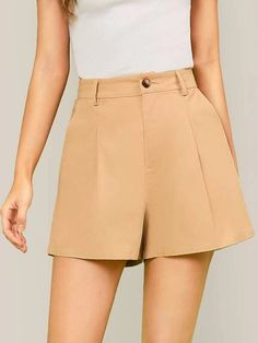 ((Affiliate Link)) Description Style:	Casual Color:	Khaki Pattern Type:	Plain Details:	Button, Pocket, Zipper Type:	Wide Leg Season:	Summer Composition:	55% Cotton, 45% Linen Material:	Cotton Fabric:	Non-stretch Sheer:	No Fit Type:	Regular Waist Type:	High Waist Closure Type:	Button Fly, Zipper Fly