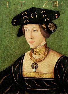 Retrato de María de Hungría, (hija de Juana La Loca y de Felipe el Hermoso), realizado por Hans Krell