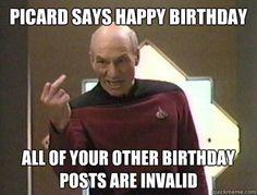 Captain Picard  Star Trek The Next Generation Happy Birthday