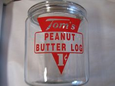 New Repro Toms Peanut Butter Log 1 C 1 Gallon with Lid Cookie Jar | eBay