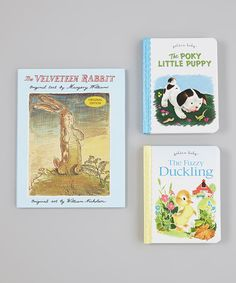 Take a look at this Puppy, Duckling & Rabbit Board Books & Hardcover by Random House on #zulily today!