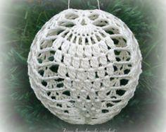 Crochet Christmas ball ornament pattern+ symbol diagram