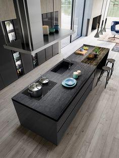Busca imágenes de diseños de Cocinas estilo moderno: COCINA OMICRON 22 – ATELIER CASA – ARMONY CUCINE. Encuentra las mejores fotos para inspirarte y y crear el hogar de tus sueños.