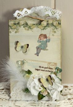 Beautiful tag by Anne Kristine, featuring the Grandma's School book collection