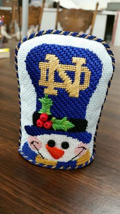 Finally got back my finished Raymond Crawford Notre Dame Snowman.   I love it.