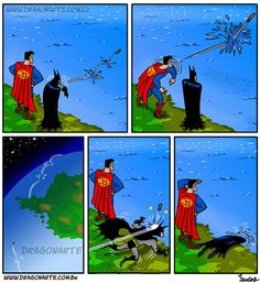 Superman vs Batman. #humor #risa #graciosas #chistosas #divertidas
