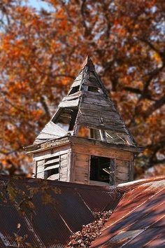 Old Schoolhouse Steeple near Brawley - Rural Oregon County Missouri by Uncle Phooey, via Flickr