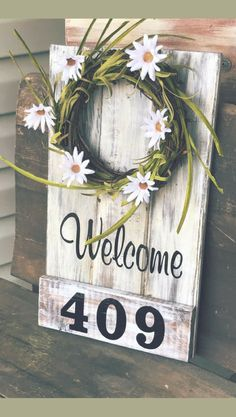 Love this simple style! Address sign, Front porch Decor, Front porch Sign, Front Porch, Welcome Sign, Address Plaque, Front Porch wreath, Porch Sign, Front Door, Home decor, Housewarming gift idea, Farmhouse sign, farmhouse decor, Rustic sign, Rustic decor #ad