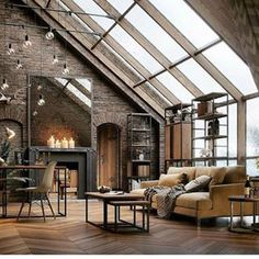 The concept of Industrial home design is very much in nowadays. Such a design not only makes your home look attractive but also enhances its beauty in each and every aspect. The Industrial home design Industrial Interior Design, Industrial House, Industrial Interiors, Industrial Style, Ikea Interior, Industrial Loft Apartment, Studio Interior, Urban Interior Design, Vintage Industrial Decor