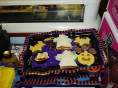 Halloween Cookie Cutter sandwiches with Boars Head Bologna and American Cheese
