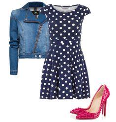Silueta clásica para vestidos de puntos son ideales para acentuar tu cintura, con modernos tacones de taches.