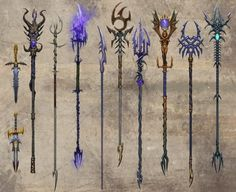 fantasy weapons | Warhammer Dark Elf Weapons (Click to Enlarge)
