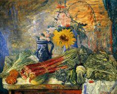 Flowers and Vegetabls, Belgium, 1896, by James Ensor.