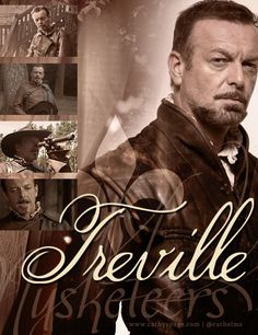 Treville from The Musketeers graphic by me (cathelms) Bbc Musketeers, The Three Musketeers, Hugo Speer, Luke Pasqualino, The Last Kingdom, Tom Burke, King And Country, Bbc America, Film Books