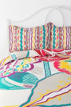 Bauhaus duvet and shams Urban Outfitters, Embroidered Bedding, Double Duvet Covers, Home Decor Sale, Room Goals, Southern Homes, Colour Schemes, Bauhaus, My Room