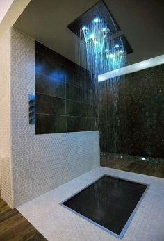 Home Decoration: Bath Room – LED shower head. Home Decoration: Bath Room – LED shower head. Led Shower Head, Rain Shower, Shower Heads, Shower Time, Pool Shower, Glass Shower, Dream Bathrooms, Beautiful Bathrooms, Luxury Bathrooms