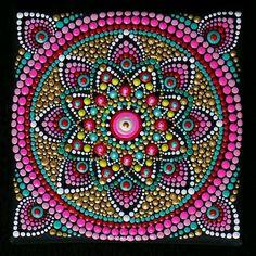Mandala Dot Art, home boho decor, acrylic paint on canvas, mandala wall art, mandala hand painting Mandala Art, Mandala Canvas, Mandalas Drawing, Mandala Rocks, Mandala Painting, Mandala Design, Dot Art Painting, Painting Patterns, Acrylic Painting Canvas