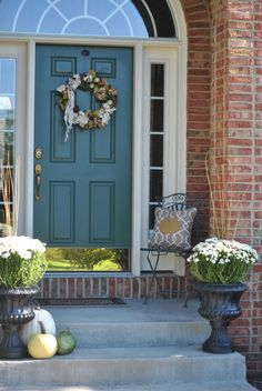 homecrush fall front porch