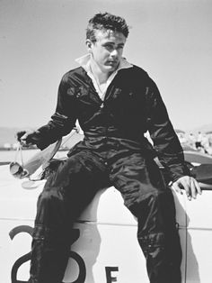 James Dean at the racetrack in Palm Springs, March 1955.
