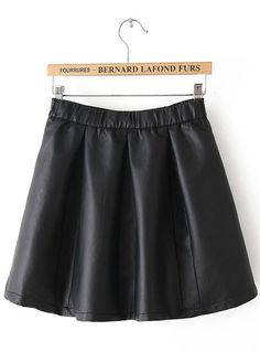 7469f300d3 Black Zipper Flare Leather Skirt Leather Skater Skirts, Faux Leather Skirt, Flared  Skirt,