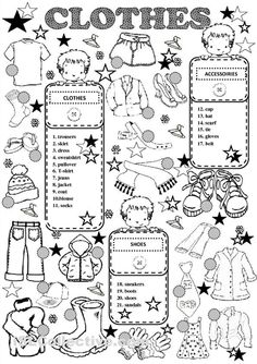 clothes worksheet                                                                                                                                                                                 Más